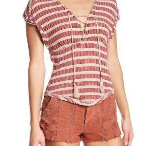 Women's Free People Sail Out Tee Size Large